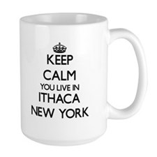 Keep calm you live in Ithaca New York Mugs