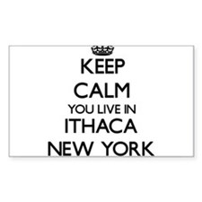 Keep calm you live in Ithaca New York Decal