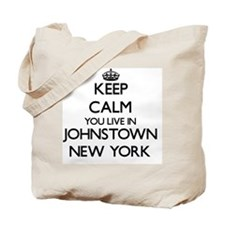 Keep calm you live in Johnstown New York Tote Bag