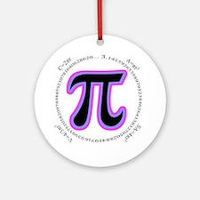 Pi Design Ornament (Round)
