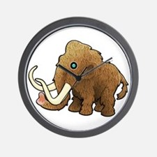 Shaggy Blue Eyed Wooly Mammoth Wall Clock