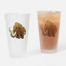 Shaggy Blue Eyed Wooly Mammoth Drinking Glass