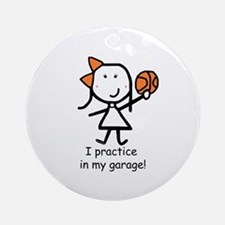 Basketball - Garage Ornament (Round)