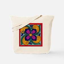 Flower Tile Tote Bag