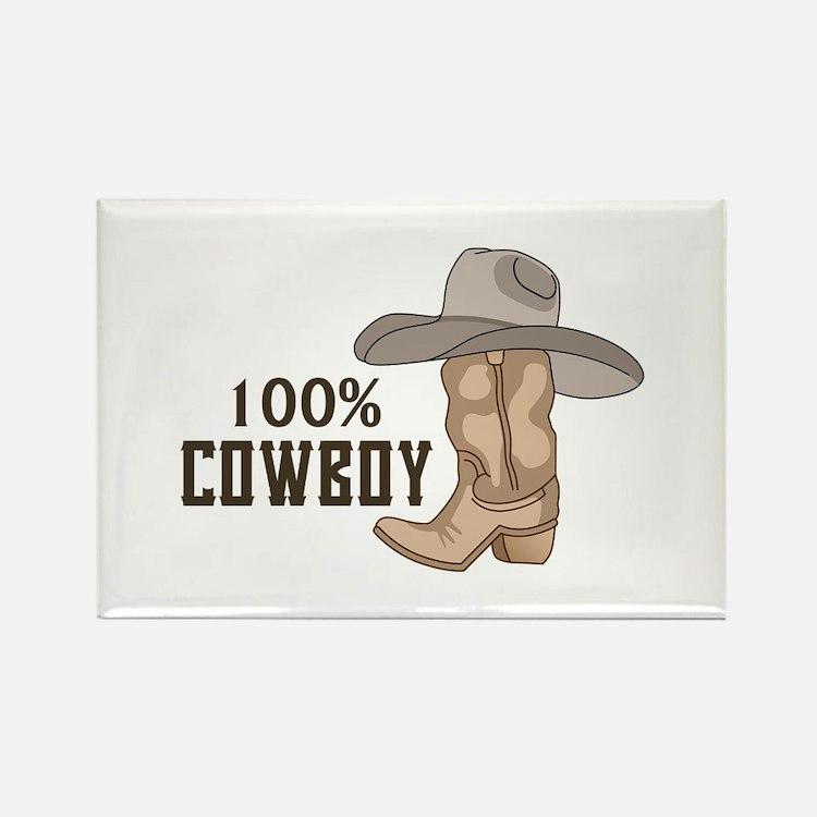 100% COWBOY Magnets