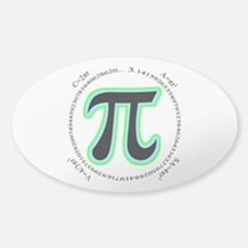 Pi Design Sticker (Oval)