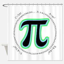 Pi Design Shower Curtain