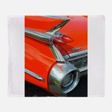 Classic Caddy Tail Fin (RED)! Throw Blanket