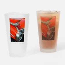 Classic Caddy Tail Fin (RED)! Drinking Glass