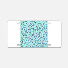 blue and pink hearts Aluminum License Plate