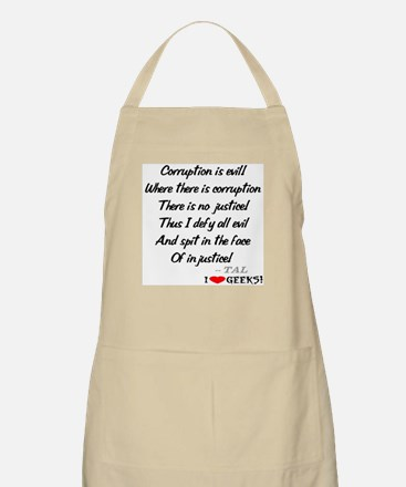 Corruption and Injustice BBQ Apron