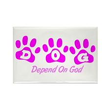 Pink DOG Rectangle Magnet (10 pack)