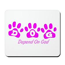 Pink DOG Mousepad