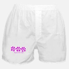 Pink DOG Boxer Shorts