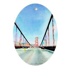 Golden Gate Oval Ornament