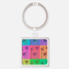 Palm Trees Square Keychain