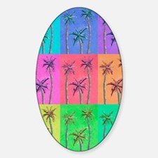 Palm Trees Sticker (Oval)