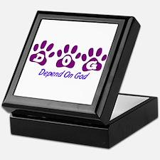 Purple DOG Keepsake Box