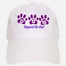 Purple DOG Baseball Baseball Cap