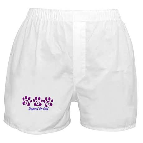 Purple DOG Boxer Shorts