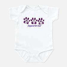 Purple DOG Infant Bodysuit