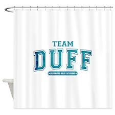 Blue Team Duff Shower Curtain