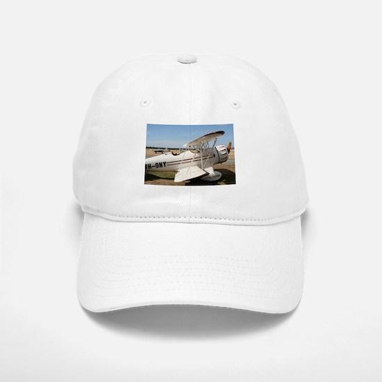 White & brown biplane Waco aircraft Baseball Baseball Cap
