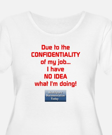 Ladies Confidential Job Plus Size T-Shirt - S2