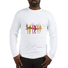Colorful Dancing Ballerinas Long Sleeve T-Shirt