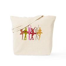 Colorful Dancing Ballerinas Tote Bag