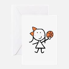 Girl & Basketball Greeting Card