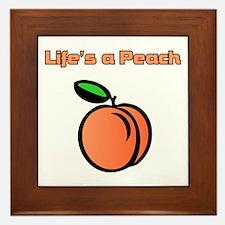Life's A Peach Framed Tile