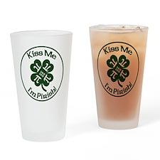 Pirish - Celebrate Pi Day & St. Pat Drinking Glass