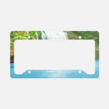 Tropical Waterfall License Plate Holder