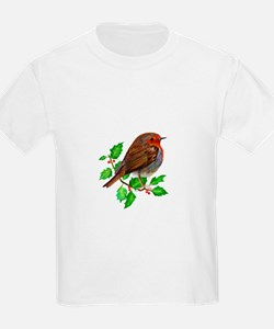 Robin Bird, Robin Redbreast, Painting T-Shirt