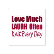 Love, Laugh Knit Every Day Sticker