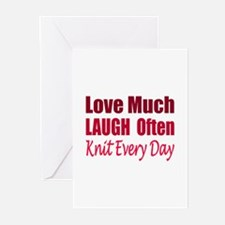 Love, Laugh Knit Every Day Greeting Cards