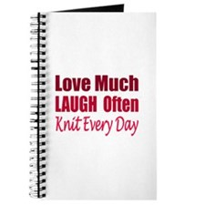 Love, Laugh Knit Every Day Journal