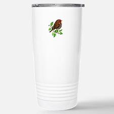 Robin Bird, Robin Redbr Stainless Steel Travel Mug