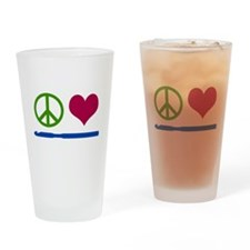 Symbols: Peace, Love, Crochet Drinking Glass