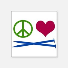 Symbols: Peace, Love, Knit Sticker