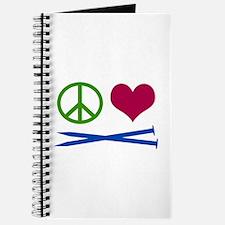 Symbols: Peace, Love, Knit Journal