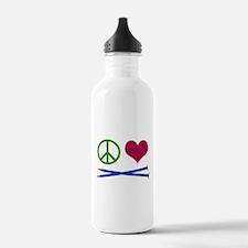 Symbols: Peace, Love, Knit Water Bottle