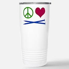 Symbols: Peace, Love, Knit Travel Mug
