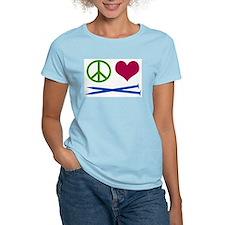 Symbols: Peace, Love, Knit T-Shirt