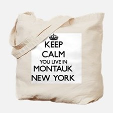 Keep calm you live in Montauk New York Tote Bag