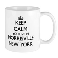 Keep calm you live in Morrisville New York Mugs
