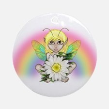 Rainbow Fairy Yellow Ornament (Round)