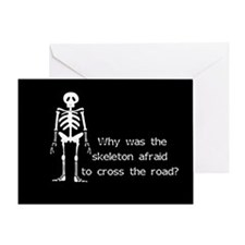 Halloween Skeleton Greeting Card