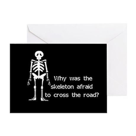 Halloween Skeleton Greeting Card
